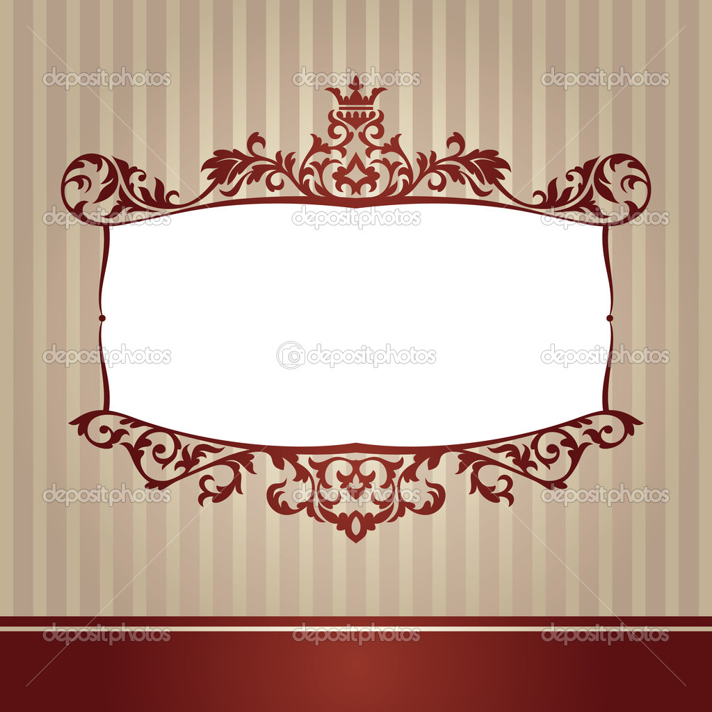 Abstract cute decorative vintage frame vector illustration — Stock Vector #4832454