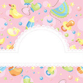 Baby background illustration — Stock Vector