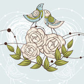 Floral vector illustration — Stockvector