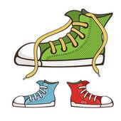 Scarpe da ginnastica vettoriale — Vettoriale Stock