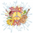 Peace and love vector illustration — Image vectorielle