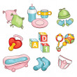 Set of baby things — Stock Vector