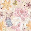 Royalty-Free Stock Imagen vectorial: Seamless cute floral background