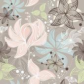 Naadloze schattig floral achtergrond — Stockvector