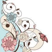 Cute floral vector illustration — Stock Vector