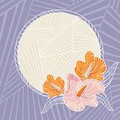 çerçeve çiçek vektör çizim — Stok Vektör