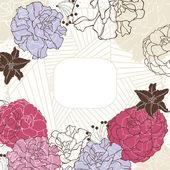 прекрасная цветочная рамка — Cтоковый вектор