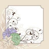 Krásný květinový rámeček — Stock vektor