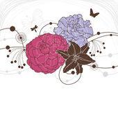 Hermoso fondo floral — Vector de stock