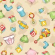 Royalty-Free Stock Obraz wektorowy: Seamless baby background