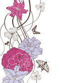 Mooie bloemen achtergrond — Stockvector