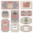 Vector de stock : Retro vintage labels