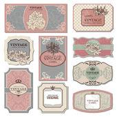 Retro vintage etiketleri — Stok Vektör