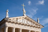 The pediment of Vilnius Cathedral — Stock Photo