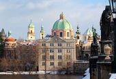 Prague. Сhurch of St. Nicholas. — Foto de Stock