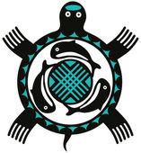 Totem Turtle — Stock Vector