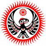 Mythological image eagle and sun — Stock Vector #4930591