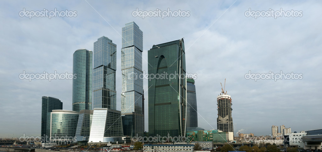 Business centre Moscow-city a panorama — Stock Photo #4073117