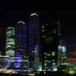 Business centre Moscow-city- night — Stock Photo