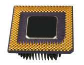 The old processor-photo on a white background — Stok fotoğraf