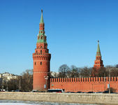 The Kremlin wall-Russia, Moscow — Stock fotografie