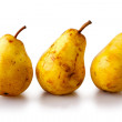 Three yellow Pears — Stockfoto