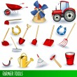 Farmer tools — Stock Vector #4055574