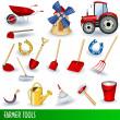 Farmer tools — Stock Vector