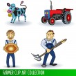 Farmer clip art collection — Stock Vector