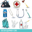Doctor equipment icons — Stock Vector #4055651