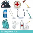 Stock Vector: Doctor equipment icons