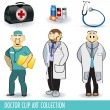 Doctor clip art collection - Stock Vector