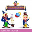 Clowns — Stock Vector