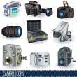 Camera icons — Stock Vector
