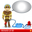Stock Vector: Firefighter