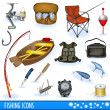 Fishing icons — Stock Vector #4303430