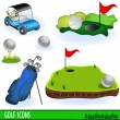 Golf icons — Stock vektor