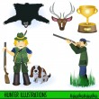 Royalty-Free Stock Vektorfiler: Hunter illustrations