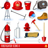 Firefighter icons — Stock Vector