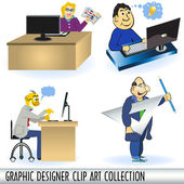 Graphic designers — Stock Vector