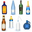 Collection of bottles — Stockvectorbeeld