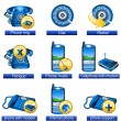Stock Vector: Phone icons 2