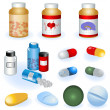 Collection of pills — Stock Vector #4530882