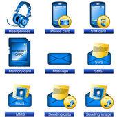 Phone icons 6 — Stock Vector