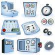Machine operators - electric control — Stock Vector