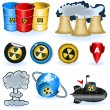 Royalty-Free Stock Vector Image: Nuke icons