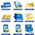 Phone icons 7 — Stock Vector