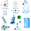 Science icons — Stock Vector #4700334