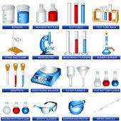 Laboratuvar araçları — Stok Vektör