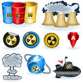 Nuke icons — Stock Vector